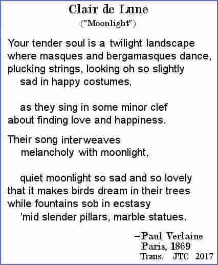 Paul Verlaine's world-famous 1869 poem Moonlight